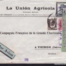 Timbres: HP9-21- CARTA LA UNIÓN AGRÍCOLA TARRAGONA - FRANCIA 1937 CENSURA . AMBULANTE BARNA-PICAMOIXONS. Lote 158211670