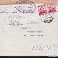 Sellos: CM2-24- CARTA NARANJAS /MANDARINAS VALCANERAS Y COLOM. ALCIRA (VALENCIA) 1938. CENSURA Y FAJA. Lote 158212622