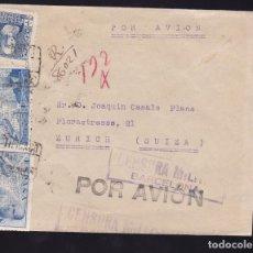 Sellos: CM2-24- CERTIFICADO BARCELONA- SUIZA 1939. CENSURA. Lote 158213490