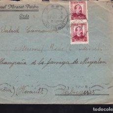 Sellos: CM2-31- CARTA ONDA (CASTELLÓN)- FRANCIA 1938. Lote 158235646