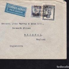 Sellos: CM2-32- CARTA LAS PALMAS- BRISTOL. 1936. LACRES. Lote 158236778