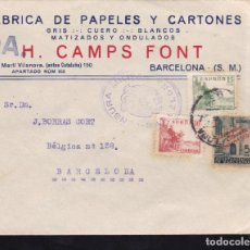 Sellos: CM2-34- CARTA FÁBRICA PAPELES BARCELONA 1939 . CENSURA. Lote 158238230