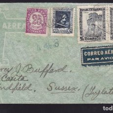 Sellos: CM2-46- CARTA VALENCIA - INGLATERRA 1938. CENSURA . Lote 158251770