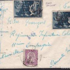 Sellos: CM2-53- CARTA A FRANCIA 1939 CON 2 SELLOS OBREROS SAGUNTO. CENSURA . Lote 158268106