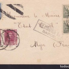 Sellos: CM2-55- CARTA BARCELONA-ALGER 1939. CENSURA. Lote 158269994