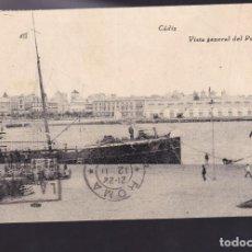Francobolli: F4-68-GUERRA CIVIL. POSTAL PUERTO DE CADIZ - MILÁN. 1937. LOCAL Y SELLOS REPÚBLICA. Lote 158272850