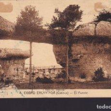 Sellos: CM2-58- POSTAL CIUDAD ENCANTADA CUENCA. MADRID- FRANCIA 1936. CENSURADA. Lote 158275542