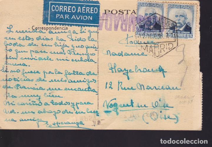 Sellos: CM2-58- Postal Ciudad Encantada Cuenca. MADRID- FRANCIA 1936. Censurada - Foto 2 - 158275542