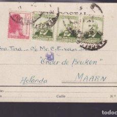 Sellos: CM2-63- TARJETA POSTAL BARCELONA- HOLANDA 1938. CENSURA. INTERESANTE TEXTO. Lote 158283594