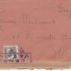 Sellos: CM2-67- CARTA VALENCIA -INGLATERRA 1936. CENSURA . Lote 158301326