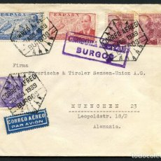 Sellos: GUERRA CIVIL POST, SOBRE, BURGOS A ALEMANIA, 1939, MATASELLOS ESPECIAL. Lote 158475526