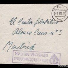 Sellos: *** CARTA 1939 ALMERÍA-MADRID. RARA CENSURA 33 COMPAÑÍA DE TRANSMISIONES ***. Lote 158859522