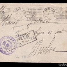 Sellos: ** CARTA 1936 SEVILLA-HUELVA, CENSURA Y FRANQUICIA 2º GRUPO DIVISIONARIO DE INTENDENCIA - MANDO - **. Lote 158938854