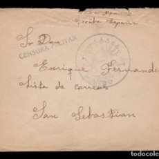 Sellos: *** CARTA SAN SEBASTIÁN, CENSURA Y FRANQUICIA GRUPO DE ESQUIADORES - MANDO, 3ª COMPAÑÍA ***. Lote 159051586
