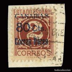 Sellos: SELLOS. ESPAÑA. LOCALES.CANARIAS. EDIF. Nº 38 1938.SELLOS NACIONALES HABILITADOS.80 S 2C.FRAGMENTO.. Lote 159572414