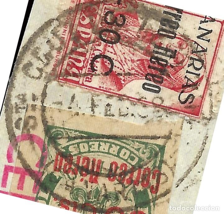 Sellos: Fragmento CENSURA.Matasello 4 Febrero 1938. Edifil 40-37 - Foto 2 - 159578890