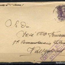 Sellos: GUERRA CIVIL POST, CARTA, CIRCULADA DESDE VALENCIA A VALLADOLID, 1939. Lote 159593314