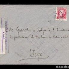 Sellos: *** CARTA VIGO 1937. PARA CENSURAR EN DESTINO Y CENSURA MILITAR VIGO. EXPORTADORES DE CARBUROS ***. Lote 159690450