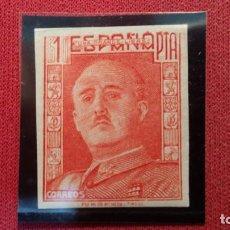 Sellos: + Nº 0000** ESPAÑA - SELLO EL CID / GENERAL FRANCO - AÑO 1949 (NO EDITADO) ¡RARO! - LEER DESCRIPCIÓN. Lote 159780746