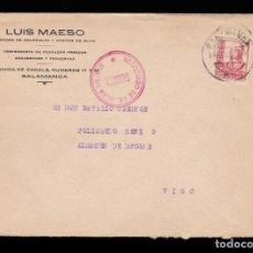 Sellos: *** CARTA SALAMANCA-VIGO 1937. NEGOCIADO DE CENSURA MILITAR SALAMANCA ***. Lote 159882522