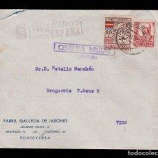 Sellos: *** CARTA PONTEVEDRA-VIGO 1937. CENSURA MILITAR PONTEVEDRA Y MARCA ARRIBA ESPAÑA DE PONTEVEDRA ***. Lote 159888066