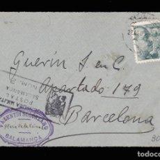Sellos: *** FRONTAL SALAMANCA-BARCELONA 1938. CENSURA MILITAR POSTAL SALAMANCA Nº2 ***. Lote 159888754