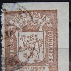 Sellos: ESPAÑA GUERRA CIVIL - VIÑETA PARO OBRERO AYUNTAMIENTO DE LEON - USADA. Lote 160137746