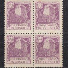 Sellos: 1944 EDIFIL 977** NUEVOS SIN CHARNELA. BLOQUE DE CUATRO. MILENARIO DE CASTILLA. Lote 160158870