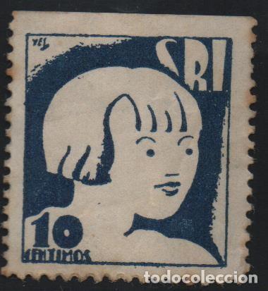VIÑETA REPUBLICANA, 10 CTS, S.R..I. VER FOTO (Sellos - España - Guerra Civil - De 1.936 a 1.939 - Usados)