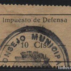 Sellos: BENASAL, -CASTELLON,. 10 CTS, -IMPUESTO DE DEFENSA-- SOFIMA Nº 1, VER FOTO. Lote 160172734