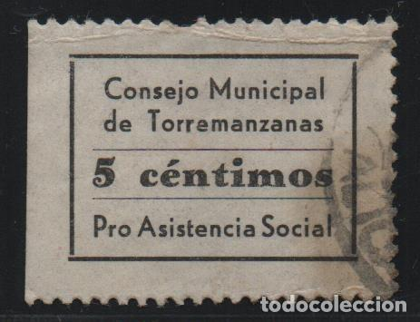TORREMANZANA.-ALICANTE- 5 CTS, PRO-ASISTENCIA- SOFIMA Nº 1, VER FOTO (Sellos - España - Guerra Civil - De 1.936 a 1.939 - Usados)