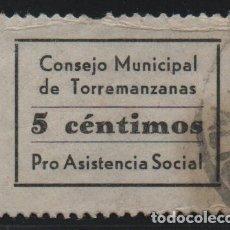 Sellos: TORREMANZANA.-ALICANTE- 5 CTS, PRO-ASISTENCIA- SOFIMA Nº 1, VER FOTO. Lote 194653817