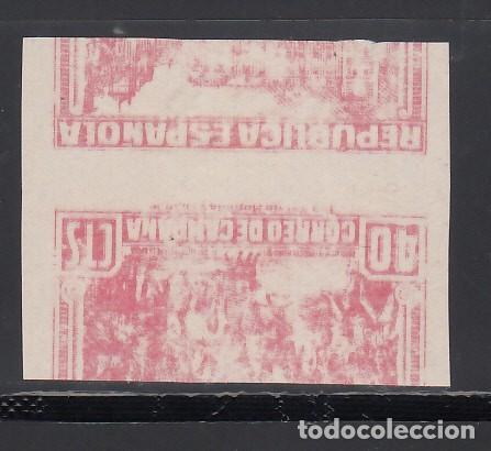 Stamps: ESPAÑA, 1939 EDIFIL Nº NE 49 (*), SIN DENTAR. CORREO DE CAMPAÑA, - Foto 2 - 160522686