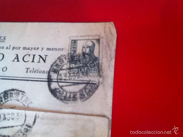 Sellos: Censura Militar BARBASTRO- Fábrica de Chocolates1938 - Foto 2 - 160694978