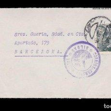 Sellos: *** FRONTAL BILBAO-BARCELONA 1939. CORREOS-CENSURA MILITAR * BILBAO * ESCUDO DE ARMAS ***. Lote 160840074