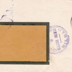 Sellos: CM2-85- GUERRA CIVIL . CARTA SOMIMET BILBAO 1938. CENSURA Y LOCAL. Lote 160968746