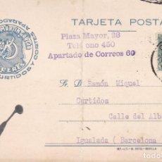 Sellos: CM2-83- TARJETA ALMACÉN DE CURTIDOS CÁCERES .1933.. Lote 160975218