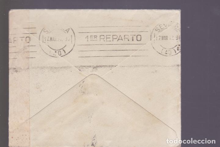 Sellos: CM2-82- Guerra Civil Carta JEREZ DE LA FRONTERA -SEVILLA 1937. Local, Faja y Censura - Foto 2 - 160976142