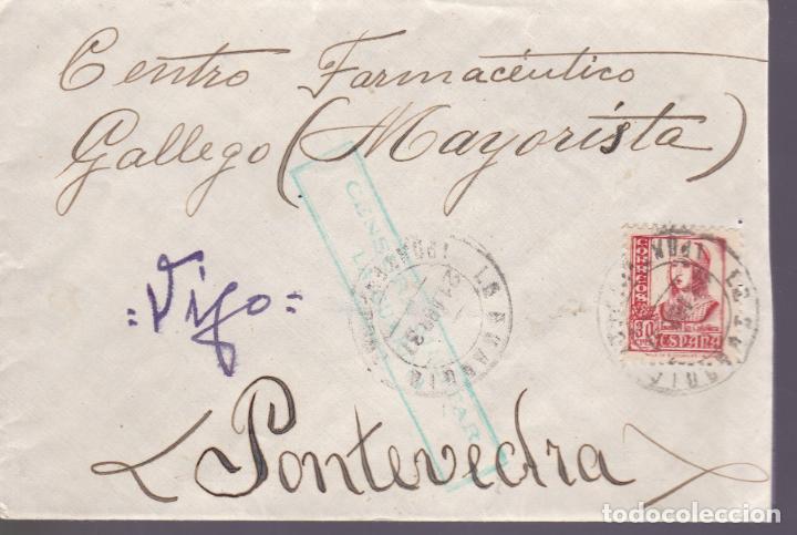 F4-76- GUERRA CIVIL CARTA ROSAL- LA GUARDIA- VIGO (PONTEVEDRA) 1937 CENSURA (Sellos - España - Guerra Civil - De 1.936 a 1.939 - Cartas)