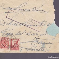 Sellos: CM2-81- GUERRA CIVIL CARTA CORDOBA_SEVILLA 1937 . LOCAL Y CENSURA . Lote 160978954
