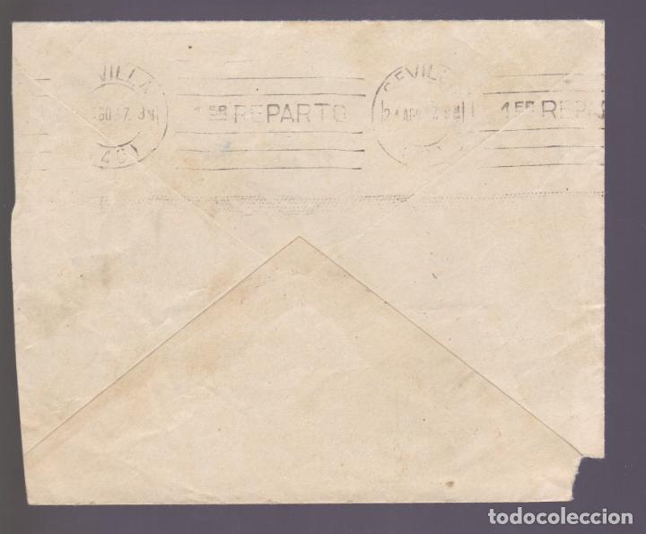 Sellos: CM2-79- Guerra Civil Carta CORDOBA- SEVILLA 1937. Local y Censura - Foto 2 - 160980966