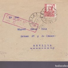 Sellos: CM2-78- GUERRA CIVIL CARTA ECIJA- SEVILLA 1938. LOCAL Y CENSURA . Lote 160981226