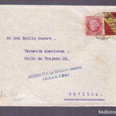 Sellos: CM2-77- GUERRA CIVIL. CARTA GRANADA- SEVILLA 1937- LOCAL Y ABIERTO POR LA CENSURA . Lote 160984170