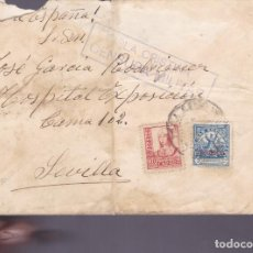 Sellos: CM2-77- GUERRA CIVIL. CARTA ISLA CRISTINA - SEVILLA 1937. CENSURA Y LOCAL AYAMONTE. Lote 160985618