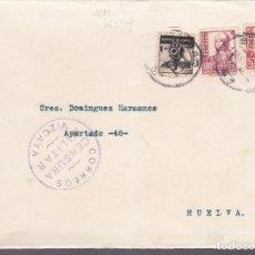 Sellos: CM2-75- GUERRA CIVIL.FRONTAL BILBAO- HUELVA 1937. BENÉFICO Y CENSURA. Lote 160987070