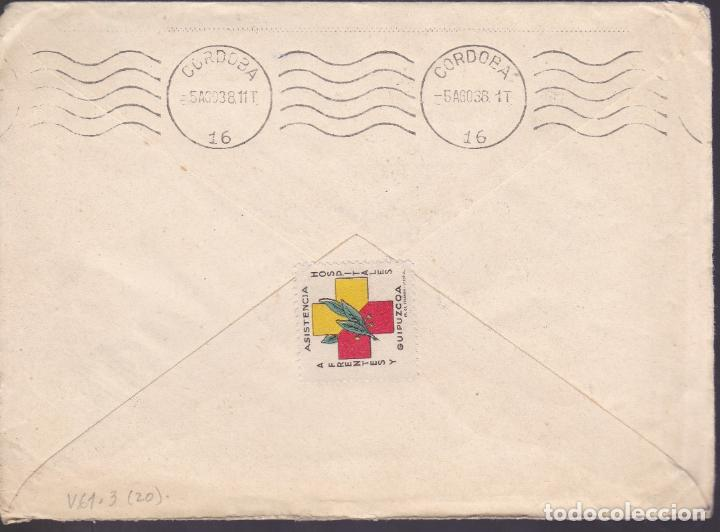 Sellos: CM2-71- Guerra Civil. Carta VILLAFRANCA DE ORIA (Guipuzcoa) 1938. Local y Censura - Foto 2 - 160991050