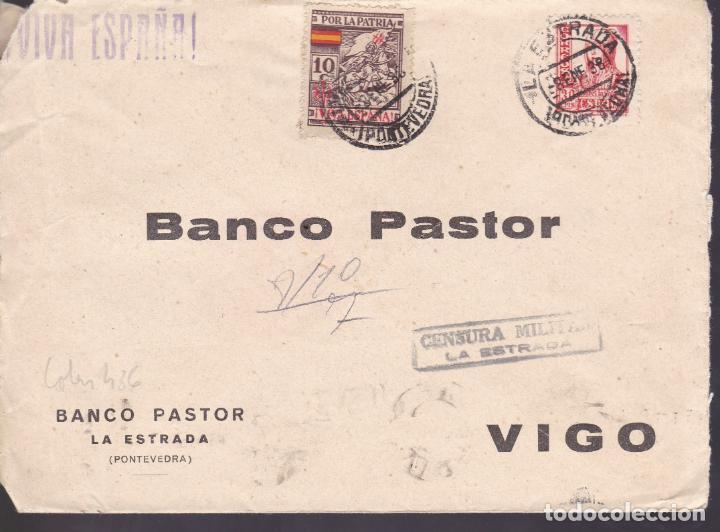 CM2-70- GUERRA CIVIL. CARTA LA ESTRADA- VIGO (PONTEVEDRA) 1938. LOCAL Y CENSURA (Sellos - España - Guerra Civil - De 1.936 a 1.939 - Cartas)