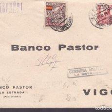Sellos: CM2-70- GUERRA CIVIL. CARTA LA ESTRADA- VIGO (PONTEVEDRA) 1938. LOCAL Y CENSURA. Lote 160992078