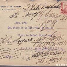 Sellos: CM2-69- GUERRA CIVIL. CARTA SAN SEBASTIÁN - JEREZ FRONTERA 1938. CENSURA . Lote 160994834