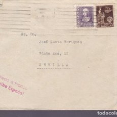 Sellos: CM2-66- GUERRA CIVIL. CARTA BARCELONA -SEVILLA. 1939. LOCAL, . CENSURA. Lote 160997338
